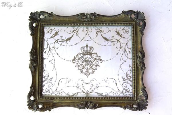 アンティーク調の鏡|【インテリア雑貨】