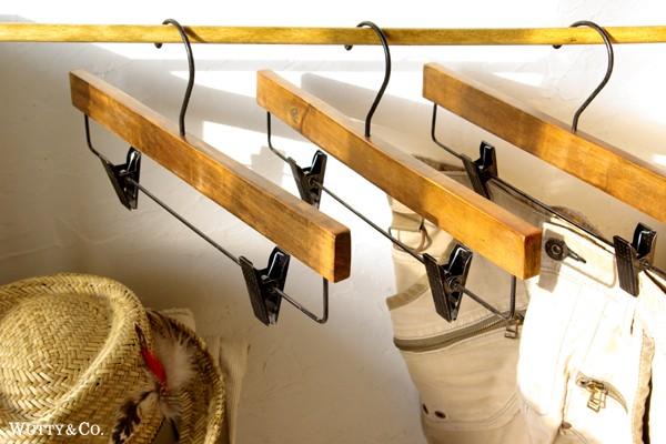 アンティーク調木製ハンガー