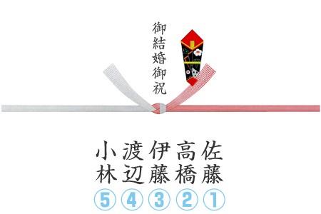 贈り主様連名の場合の熨斗の例 イメージ