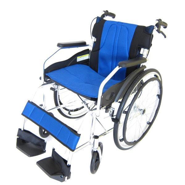車椅子 軽量 折りたたみ カドクラ チャップス オーシャンブルー A101-AB 自走用 自走介助兼用 送料無料 全10色 kadokura|xenashopping|21