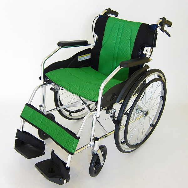 車椅子 軽量 折りたたみ カドクラ チャップス オーシャンブルー A101-AB 自走用 自走介助兼用 送料無料 全10色 kadokura|xenashopping|24