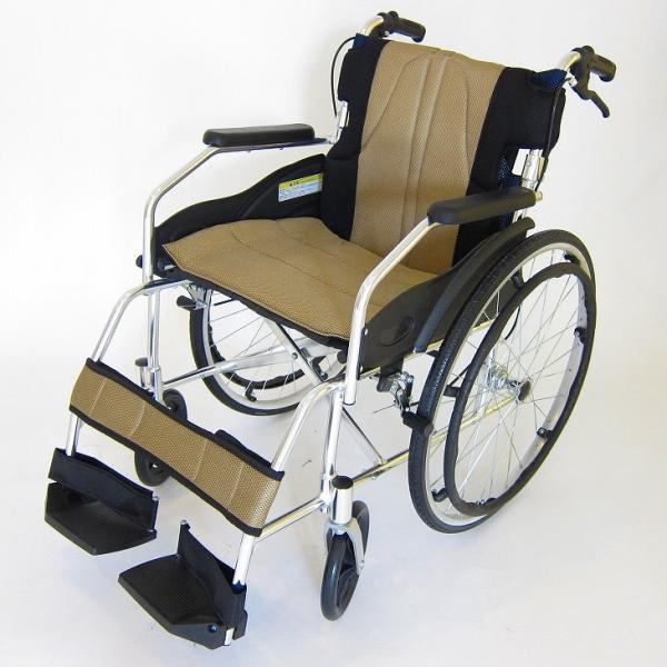 車椅子 軽量 折りたたみ カドクラ チャップス オーシャンブルー A101-AB 自走用 自走介助兼用 送料無料 全10色 kadokura|xenashopping|25
