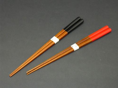 【国産 竹製】 漆塗り上寿箸 21、23cm