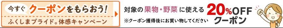 福島県産品20%OFF【果物・野菜クーポンはこちら】