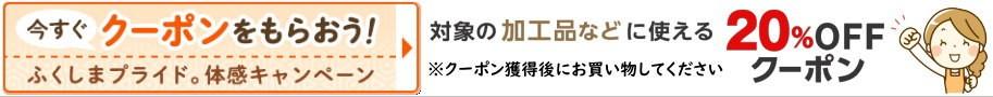 福島県産品20%OFF【加工品クーポンはこちら】