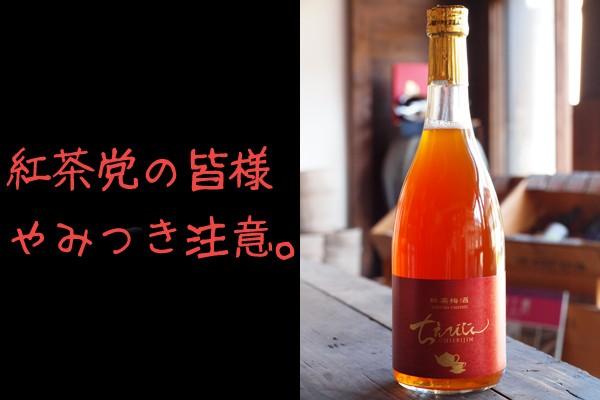 紅茶梅酒 ちえびじん 杵築産茶葉べにふうき 7% 720ml 中野酒造