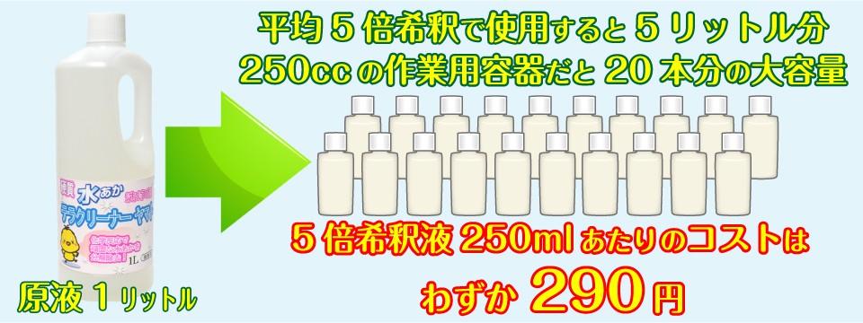 水垢落とし洗剤の価格