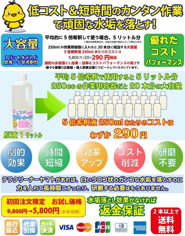 水垢を落とす洗剤