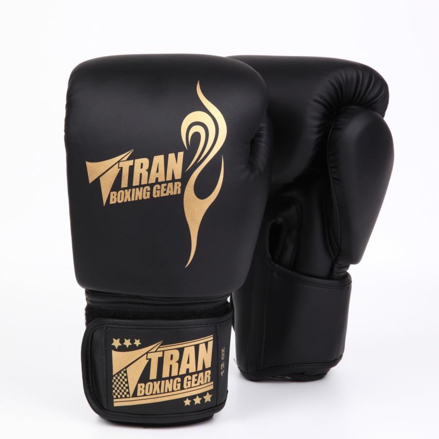 ボクシンググローブ トレーニング グローブ パンチンググローブ  8oz 10oz 12oz 14oz TRAN キック ボクシング 格闘技 空手 テコンドー フィット 黒 白 ゴールド|yanecia|14