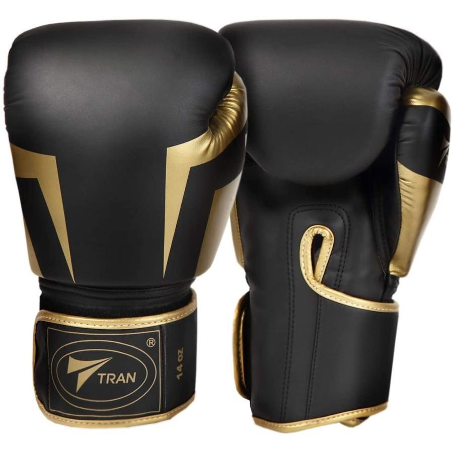 ボクシンググローブ トレーニング グローブ パンチンググローブ  8oz 10oz 12oz 14oz TRAN キック ボクシング 格闘技 空手 テコンドー フィット 黒 白 ゴールド|yanecia|10