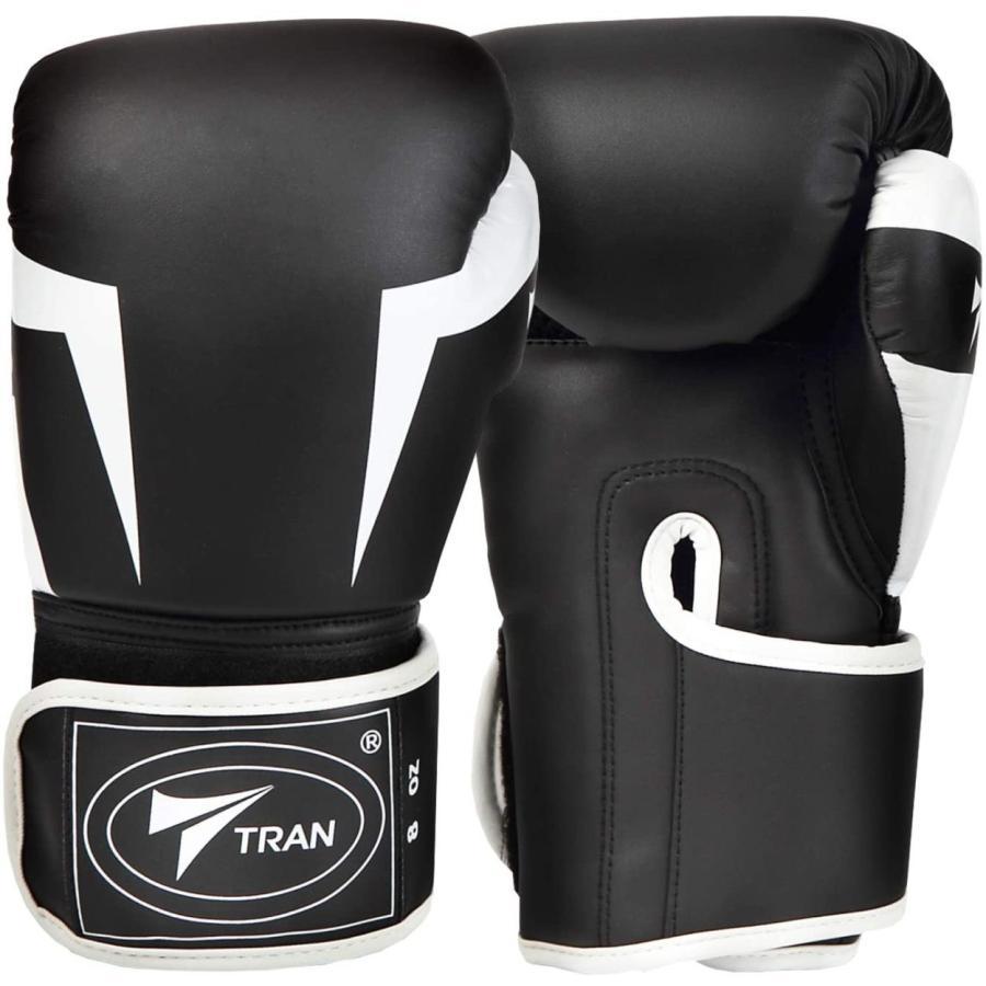 ボクシンググローブ トレーニング グローブ パンチンググローブ  8oz 10oz 12oz 14oz TRAN キック ボクシング 格闘技 空手 テコンドー フィット 黒 白 ゴールド|yanecia|09