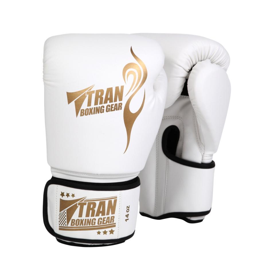 ボクシンググローブ トレーニング グローブ パンチンググローブ  8oz 10oz 12oz 14oz TRAN キック ボクシング 格闘技 空手 テコンドー フィット 黒 白 ゴールド|yanecia|16