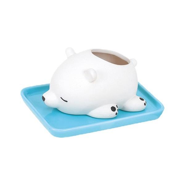 加湿器 おしゃれ 気化式 手入れ簡単 寝室 陶器 素焼き かわいい 動物 ねむねむアニマルズ|yasashii-kurashi|18
