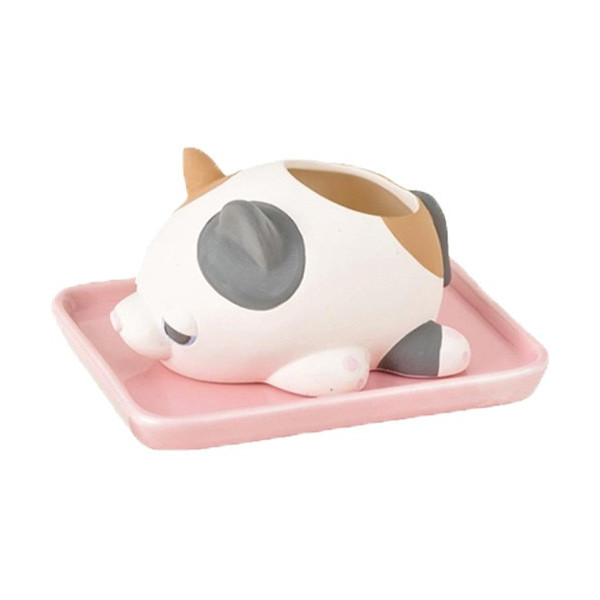 加湿器 おしゃれ 気化式 手入れ簡単 寝室 陶器 素焼き かわいい 動物 ねむねむアニマルズ|yasashii-kurashi|16