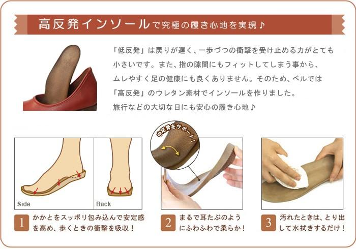高反発インソールが足の形にフィットして疲れづらい
