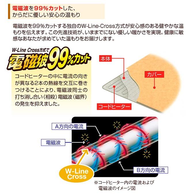 電磁波カット 一人用 電熱マット特徴02