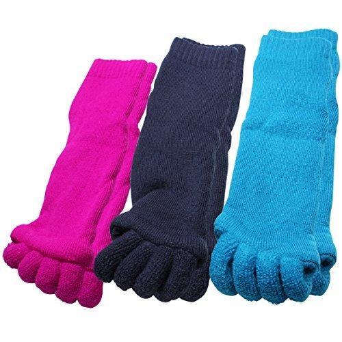 足指 広げる 外反母趾 冷え性 ソックス 靴下 パイル地 5本指 冷え取り 3足 セット|yasuizemart|12
