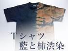 Tシャツ 藍と柿渋染