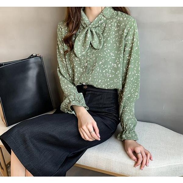 ブラウス レディース シャツ トップス 母の日 5種類 Vネック 長袖シャツ 新作 春夏 代引不可 一部分当日発送|yayushop|25