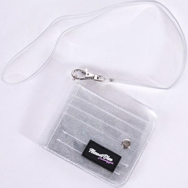 ウォレット 財布 レディース 二つ折り財布  収納 透明 グリッター コンパクト カード入れ 札入れ 女性用 クリア ミニ財布  代引不可|yayushop|20