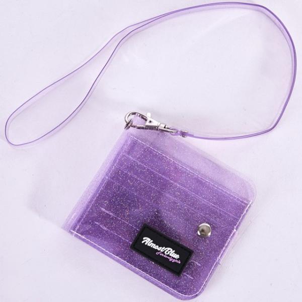 ウォレット 財布 レディース 二つ折り財布  収納 透明 グリッター コンパクト カード入れ 札入れ 女性用 クリア ミニ財布  代引不可|yayushop|18