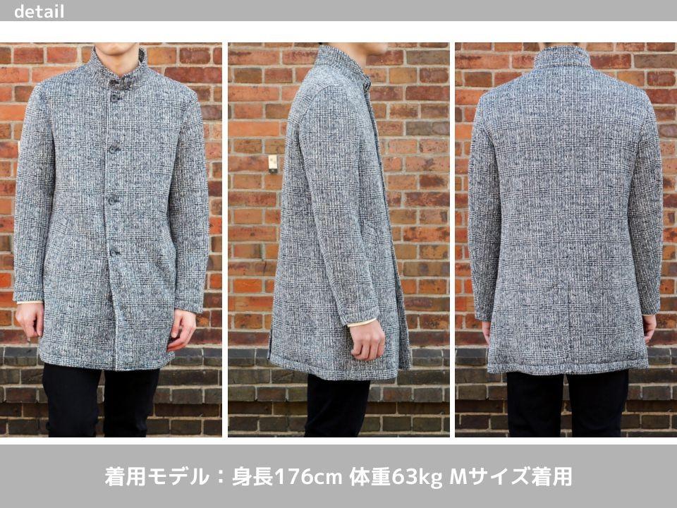 3e74b5555a18 裏地はサテンになっているので、中にセーターなどを着てもゴワつくことなく着用できそうです。撮影時の気温は、14℃でしたが十分な暖かさでした。