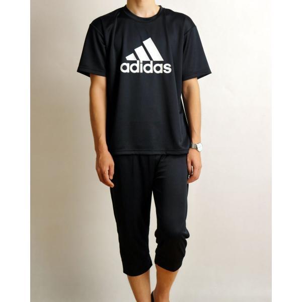 アディダス セットアップ メンズ ステテコ Tシャツ 上下セット ブランド おしゃれ ロゴ プリント スポーツウェア 吸汗速乾 adidas グンゼ GUNZE 送料無料|ygc|19