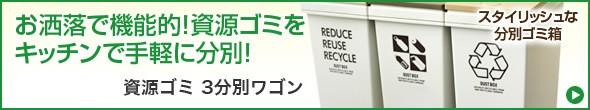 資源ゴミ 3分別ワゴン