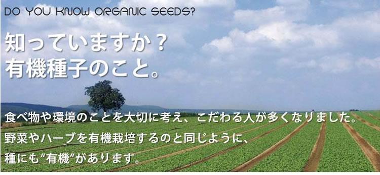 知っていますか?有機種子