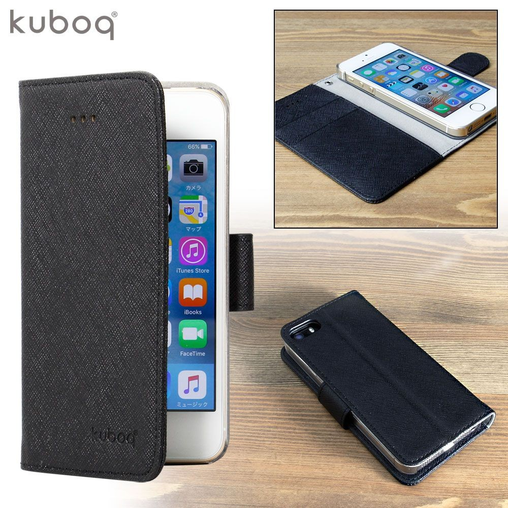 84e0ba26a5 Owltech iPhone SE / 5s / 5用 kuboq PU手帳型ケース ピンク / ホワイト ...