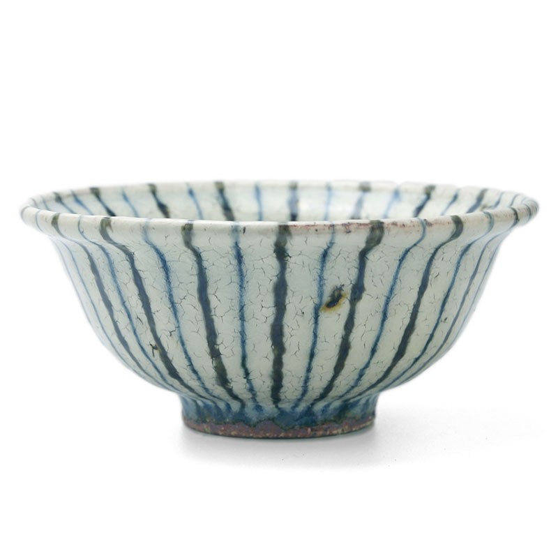 煮物鉢・紫縞・杉本太郎