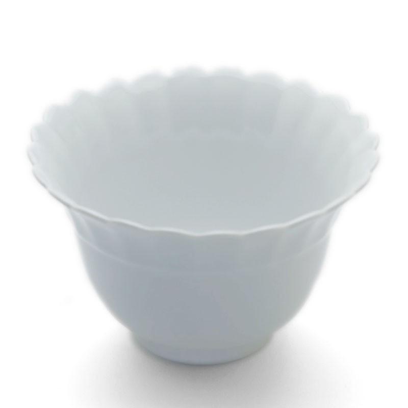 白白磁渕輪花小鉢・水野克俊