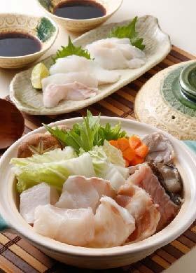 クエ鍋と刺身セット
