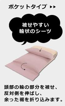 ポケットタイプの敷き布団用シーツ