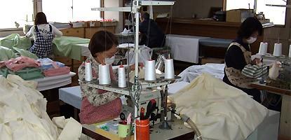 縫製フロアの写真