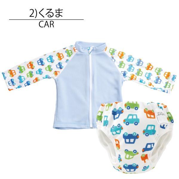 ラッシュガード ベビー 長袖 セット ベビー 水着 水遊びパンツ 日本製 男の子 女の子 ファスナー|yokoronstore|24