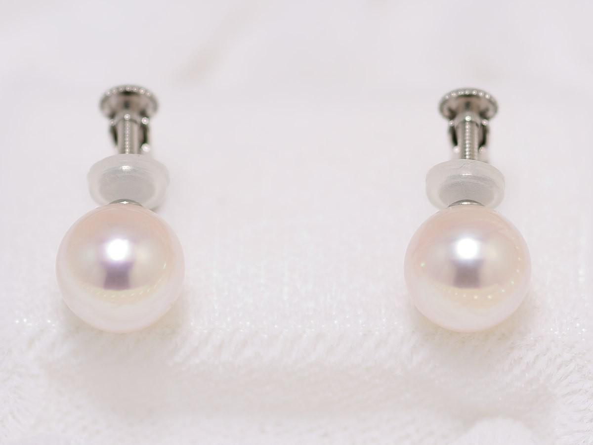 花珠真珠ネックレス8.0mm〜8.5mm2点セット