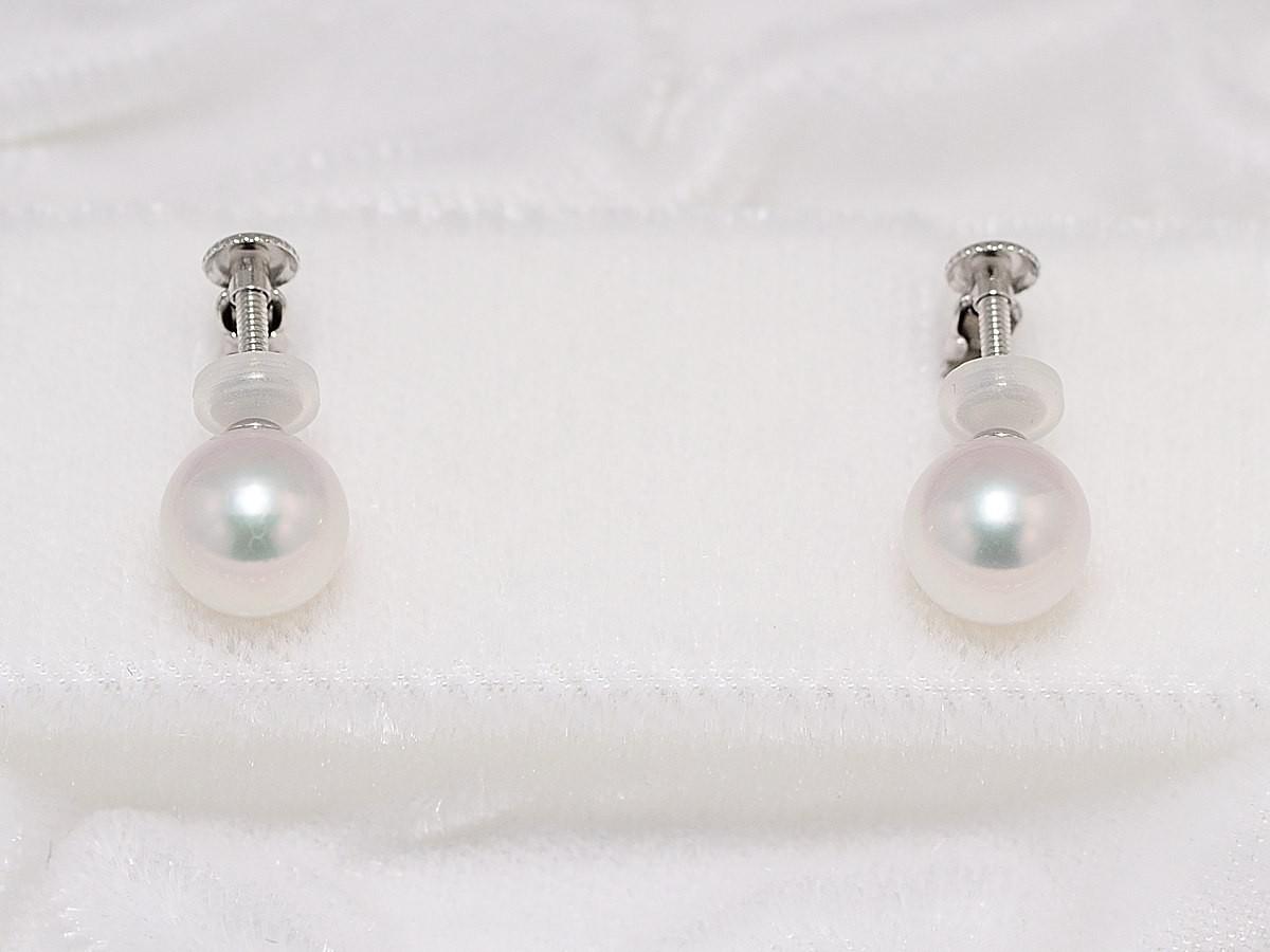 花珠真珠ネックレス7.0mm〜7.5mm2点セット