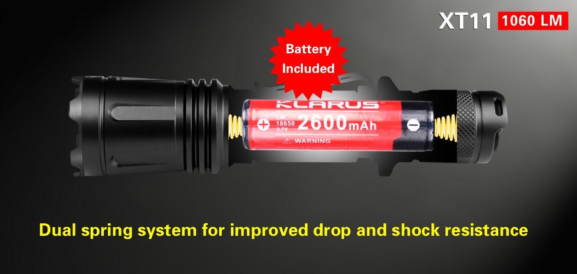 Taschenlampen Klarus LED-Taschenlampe XT11 1060 ANSI Lumen