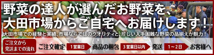 野菜の達人が選んだお野菜を、大田市場からご自宅へお届けします!