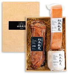 【ギフトセット】ま っくろ煮豚と脂とろけるロースハム、すっごい♪ベーコン