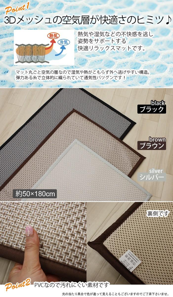 洗えるキッチンマット 汚れにくくクッション性あり 3DメッシュPVCマット(Y)