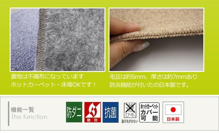 お医者さんがすすめる 防ダニカーペット 防炎カーペット CC2310(A)