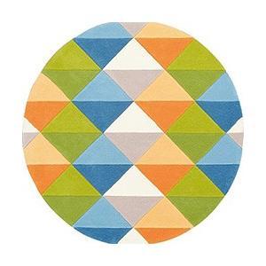 モダン 丸型ラグ prevell プレーベル フェル 【円形】 約140×140cm (グリーン/ピンク)|youai|05