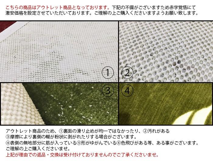 玄関マット モンステラ(Y) ブラウン 約50cm×80cm 滑り止め加工
