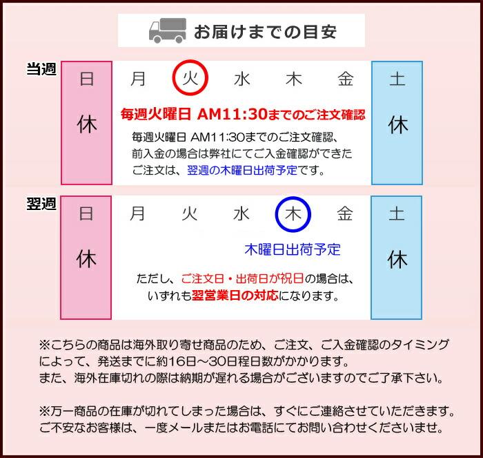 お届けまでの目安(海外取寄せ品)
