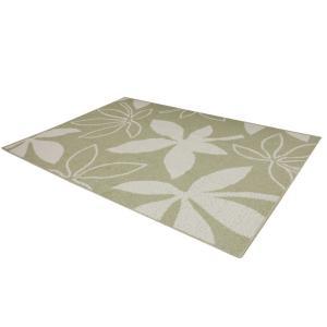 ラグ 洗える アウトレット カーペット コットン 綿 マット 処分品 絨毯 日本製 北欧 在庫限り 綿混 オシャレ リーフ柄 ボタニカル 約130×190cm ネオパキラ (Y)|youai|10