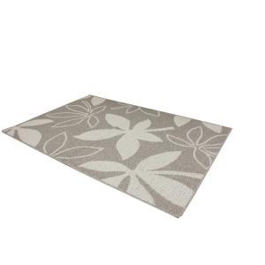 ラグ 洗える アウトレット カーペット コットン 綿 マット 処分品 絨毯 日本製 北欧 在庫限り 綿混 オシャレ リーフ柄 ボタニカル 約130×190cm ネオパキラ (Y)|youai|09
