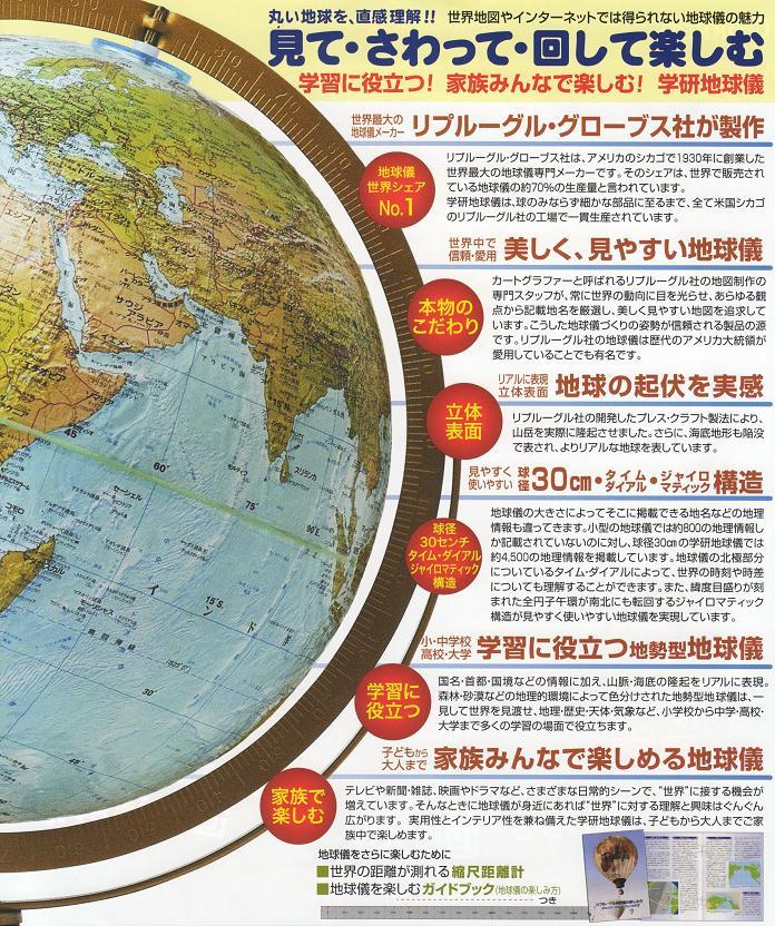 本格 学研地球儀