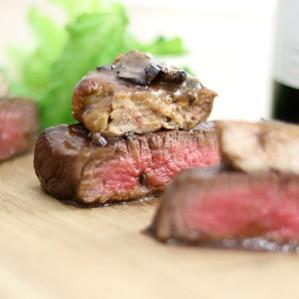国産牛フィレ肉のロッシーニ風